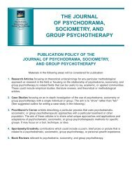 Authors - American Society of Group Psychotherapy and Psychodrama