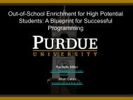 Out-of-School Enrichment for High Potential Students: A Blueprint for ...