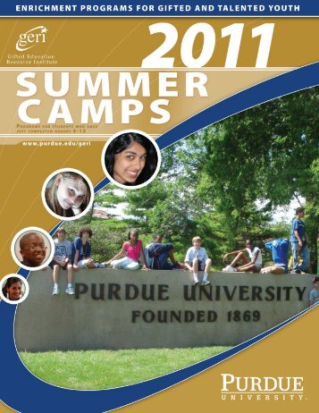 GERI Summer Camps - Gifted Education Resource Institute - Purdue ...