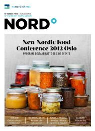 New Nordic Food Conference 2012 Oslo