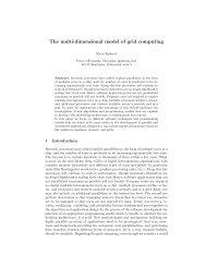 The multi-dimensional model of grid computing