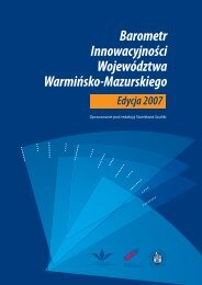 Barometr Innowacyjności Województwa Warmińsko-Mazurskiego ...