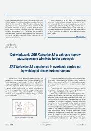 Doświadczenia ZRE Katowice SA w zakresie napraw ... - Energetyka