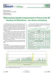 Wykorzystanie biopaliw transportowych w Polsce na tle ... - Energetyka