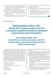 Elektroenergetyka w Polsce – 2011. Wybrane wyniki i wyzwania ...