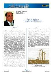 Historia budowy i eksploatacji Elektrowni - Energetyka