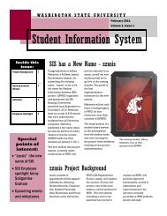zzusis Newsletter Vol. 1 - Student Information Systems Project