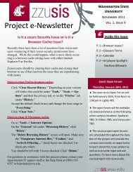 zzusis Newsletter Vol. 9 - Student Information Systems Project