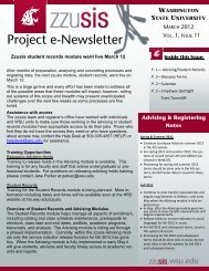 zzusis Newsletter Vol. 11 - Student Information Systems Project