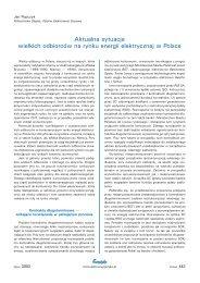 Aktualna sytuacja wielkich odbiorców na rynku energii ... - Energetyka