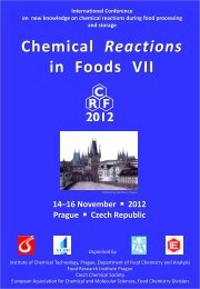 Chemical Reactions in Foods VII - LMC