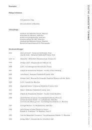 Biographie Philipp Schönborn 1943 geboren in Prag. Lebt und ...