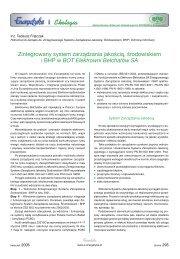 Zintegrowany system zarządzania jakością ... - Energetyka