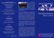 Konzertvorschau 2012 / 2013 - Arcis-Vocalisten.de