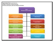 Organizational Chart, Updated March 2011 College of Education ...