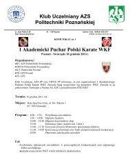 Komunikat - Polski Związek Karate