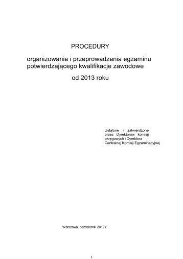 Procedury - Okręgowa Komisja Egzaminacyjna w Warszawie