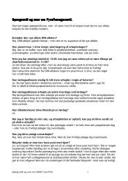 Spørgsmål og svar om Spørgsmål og svar om ... - 3F-Post