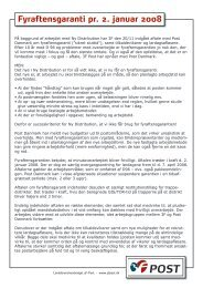 Fyraftensgaranti pr. 2. januar 2008 - 3F-Post