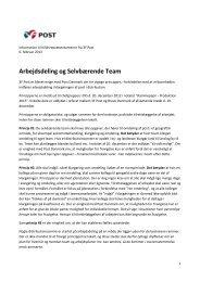 Arbejdsdeling og Selvbærende Team - 3F-Post