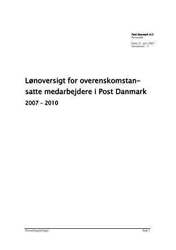 Lønoversigt 2007-2010 - 3F-Post