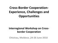 Cross-Border Cooperation Experience, Challenges and ... - ICDT