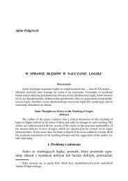 W sprawie błędów w nauczaniu logiki - IPSiR UW