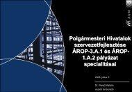 Polgármesteri Hivatalok szervezetfejlesztése ÁROP-3.A.1 és ... - AAM