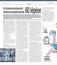 A dokumentumok elektronizálásának 6D lépése - AAM.hu