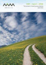 CSR-jelentés 2009 - AAM Vezetői Informatikai Tanácsadó Zrt.