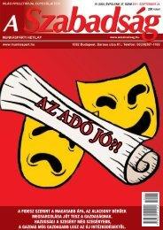 VI. (XXII.) ÉVFOLYAM 37. SZÁM - 2011. szeptember ... - A Szabadság