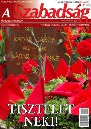 VI. (XXII.) ÉVFOLYAM 26. SZÁM - 2011. július 9. - A Szabadság