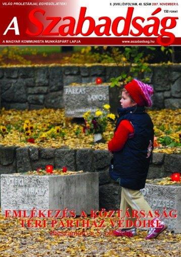 40. szám - 2007. november 8. - A Szabadság
