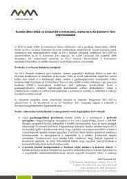 Elemzés 2011-2013-as időszak EU-s forrásairól, kiemelten az új ...