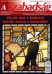VII. (XXIII.) ÉVFOLYAM 37. SZÁM - 2012. szeptember ... - A Szabadság