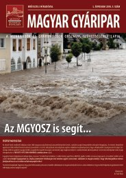 Magyar Gyáripar - MGYOSZ