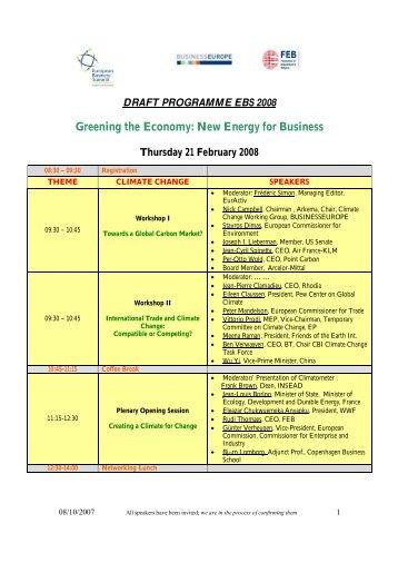 EBS2008 - draft programme - MGYOSZ