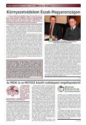Környezetvédelem Észak-Magyarországon - MGYOSZ
