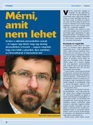 Mérni, amit nem lehet - AAM Vezetői Informatikai Tanácsadó Zrt.