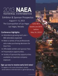 Exhibitor & Sponsor Prospectus - National Association of Enrolled ...