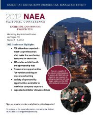Event and Attendee Description - National Association of Enrolled ...