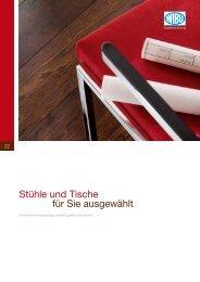 WIBU Stühle und Tische | Auszug aus Broschüre ... - Objekteinrichtung