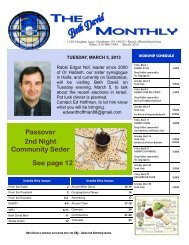 The Monthly March 2013 Final.pub - Beth David Reform Congregation