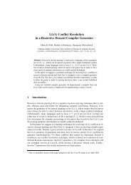 LL(1) Conflict Resolution in a Recursive Descent Compiler ... - JKU