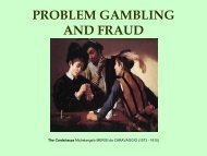 problem gambling and fraud - European Association for the Study of ...