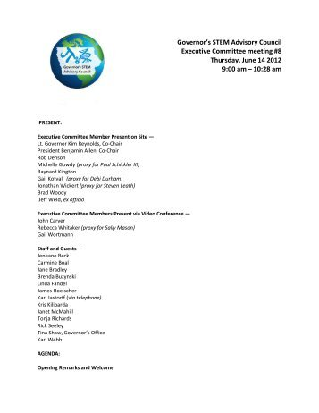 Advisory Council Discussion Notes - STEM