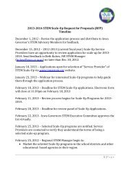 2013-2014 STEM Scale-Up Request for Proposals (RFP) Timeline ...