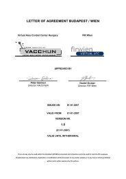 LETTER OF AGREEMENT BUDAPEST/WIEN - VACCHUN
