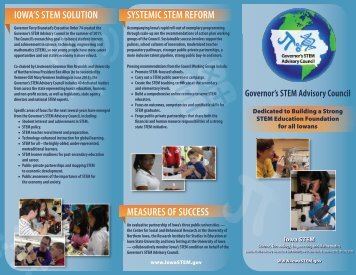 Iowa Governor's STEM Advisory Council brochure