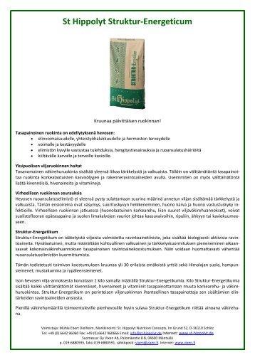 St Hippolyt Struktur-Energeticum - Vixen Oy Ab
